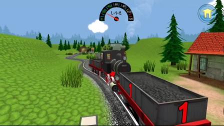 儿童玩具火车:小火车需要托运两个货物才能完成任务