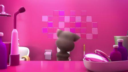 我的汤姆猫:汤姆上玩厕所,顺便洗个牙,真是个爱干净的小猫
