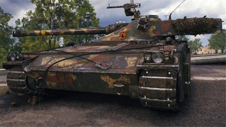 坦克世界神操作:八级房里才能大杀四方的瑞系十级车!