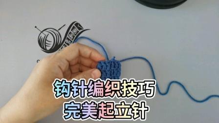 蔷薇钩织视频钩针基础第7集圈钩起立针