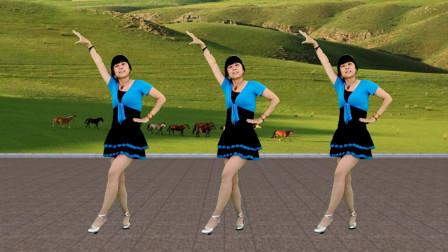 广场舞《打马过草原》歌曲大气豪迈,舞步动感时尚
