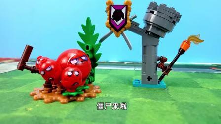 植物大战僵尸2玩具:大汉铜人僵尸VS冬青骑士,到底谁会获胜呢?