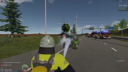 儿童趣味消防车,车子不慎起火,堵住了鲁,消防车如何过去