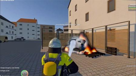 儿童趣味消防车,不明火苗引发垃圾桶着火,影响工厂安全