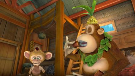 熊出没:动物偷吃强哥半仓库红薯,只拿3根玉米交换,强哥要疯了