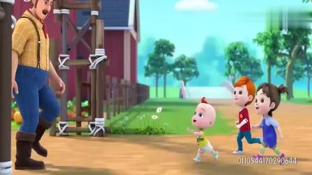 超级宝贝:小朋友来农场玩耍,这里好多小动物
