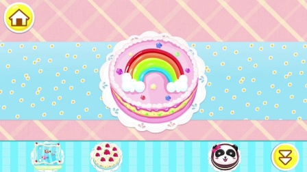宝宝巴士游戏:奇奇在给妙妙做生日蛋糕。