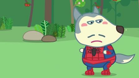 拯救狼爸,勇敢的小狼沃夫使出绝招,超级英雄蜘蛛侠打败灭霸