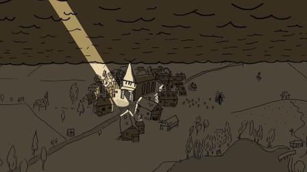隐喻动画片,神父日夜祷告进入天堂,却因一条狗被扔进水塘