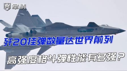 歼20挂弹数量达世界前列,高强度空战格斗弹性能有多强?