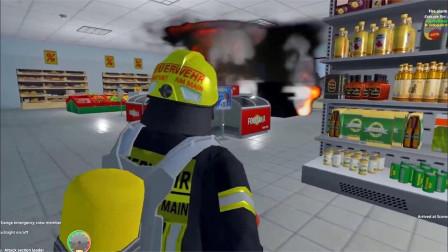 儿童趣味消防车,超市不慎着火烧毁了很多货物,消防员能否及时赶到