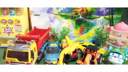 挖掘机工程车玩具表演,玩具汽车拖拉机