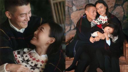 陈冠希秦舒培一家三口拍大片,夫妻甜蜜对视女儿气场强大