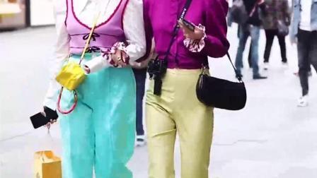五种颜色组合而成的个性穿搭