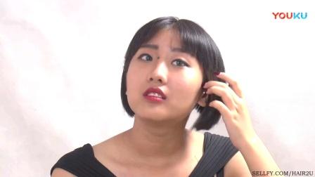 丰满女孩的长发变着花样剪短发(二)