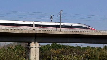 【铁路】京沪高铁 下行长编组CR400AF通过湖山小火车园博园机位