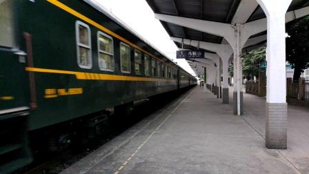 【铁路】10月2日 DF11牵引k1192鸣笛冲进马鞍山站
