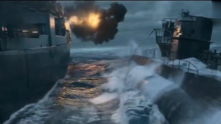 盟军驱逐舰和德军潜艇的遭遇战,惊心动魄,差点海底喂鱼