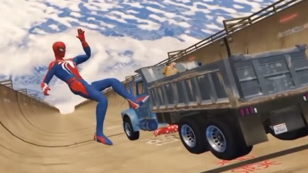 GTA5:又是死亡货车,这么高摔下去得多久啊!