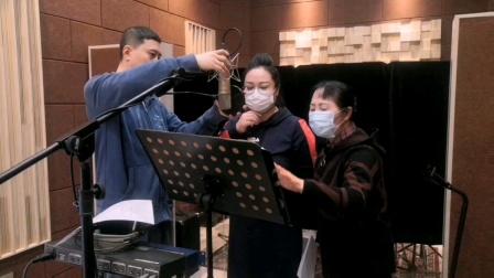 抒情女高音歌唱家崔丽新歌录制后与石瑞生张凤茹座谈创作感想和体会