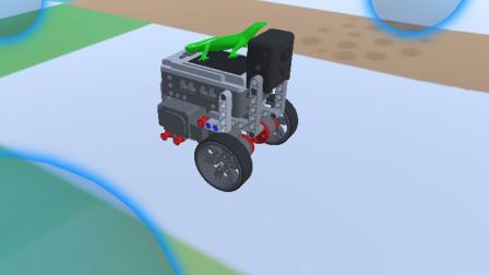 虚拟机器人之按时巡线积木的建立