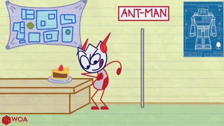铅笔人穿上了蚁人服装,可变大变小,好科幻