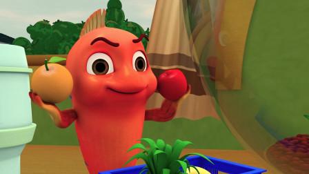 跳跳鱼种出美味的苹果橙子