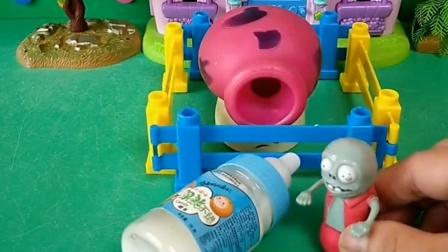 巨人把蘑菇炮抓住了,把他给关起来了,小鬼来照顾蘑菇了!