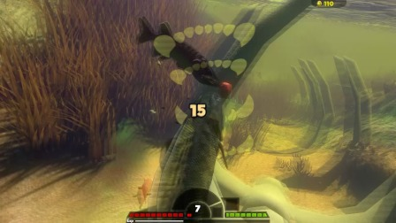 海底大乱斗蛇头鱼攻击力很强称霸河域时却被巨型匹克鱼一口吞了
