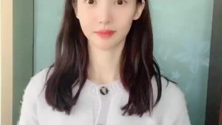 金晨姐姐的手语致敬白衣天使!