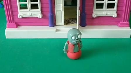巨人今天去外面了,只有小鬼自己在家,小鬼出去找爸爸了!