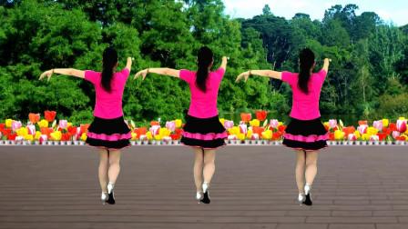 广场舞《桃花情》歌甜舞美,好看好学