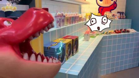 超级英雄悟煕萌宝游乐玩具展,猪猪侠百变校巴汽车变形玩具,还有霸王龙追击