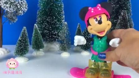 迪士尼米老鼠玩具:米妮老鼠冬季滑雪装备玩具