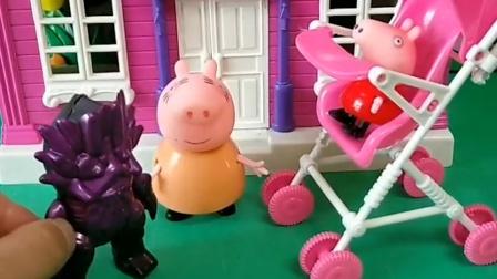 猪妈妈带佩奇去溜达了,结果遇见了怪兽,怪兽把佩奇给抢走了!