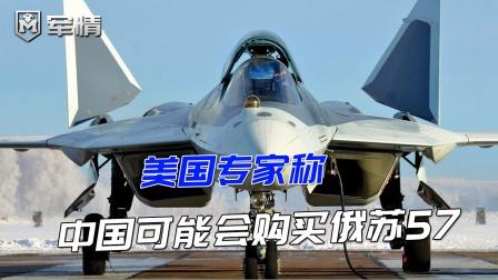 美国专家称:中国可能会购买俄苏57,弥补歼20的先天不足