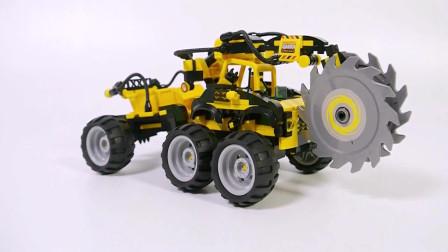 工程车玩具的拼装