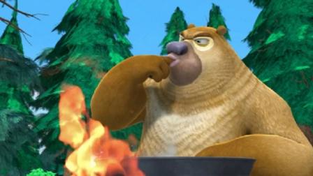 熊出没:熊二在做黑暗料理,他自己尝尝,真的好难吃