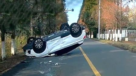 交通事故合集:高速错过路口随意停车,后车跟车太近悲剧了