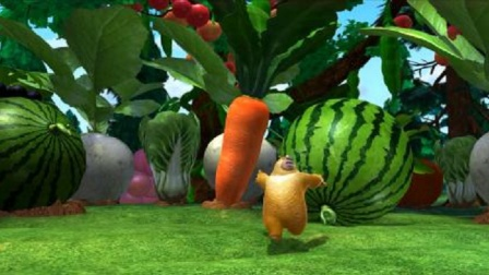 熊出没:说出来你可能不信,熊二被水果撵了,还是巨无霸西瓜