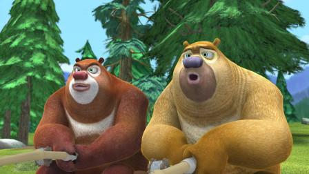熊出没:俩熊真难缠,强哥陆路水路夜路都走了,可都行不通啊