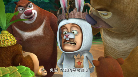 熊出没:兔崽成了大家的新晋男神,争抢之余才发现兔崽竟是光头强