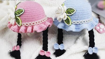 小满编织小屋花朵小辫帽子-配件缝合