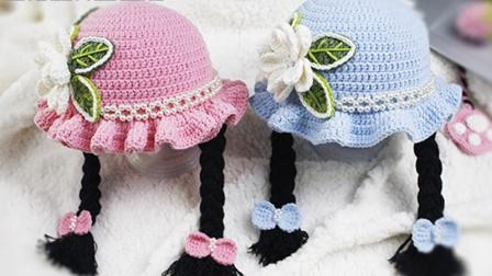 小满编织小屋花朵小辫帽子-缝合