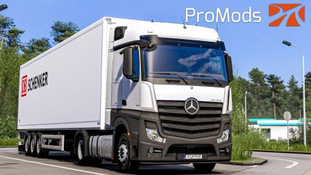 欧洲卡车模拟2 #374:EVR车辆声音补丁 驾驶奔驰MP4运送宠物食品 | Euro Truck Simulator 2