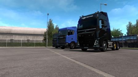 欧洲卡车模拟2|Euro Truck Simulator 2#10搞事!用沃尔沃运输刚出厂的斯堪尼亚卡车到汉诺威4S店P1