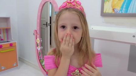 外国少儿时尚,萌娃小女孩的快乐玩具秀,快来看看吧