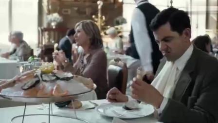 憨豆用另类的手法吃下龙虾,看呆了旁边食客