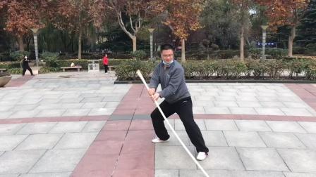 2020年11月22日晨练,冯凯太极拳,棍术
