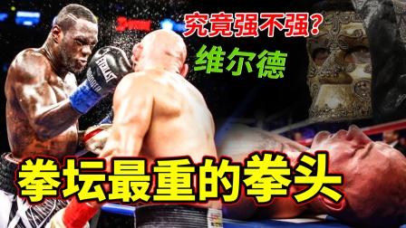 拳击擂台最重的拳头,一拳让对手昏迷,维尔德的实力强不强?